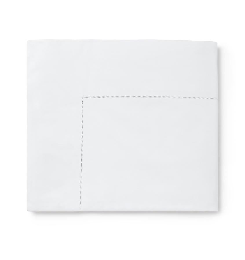 Celeste Sheeting by Sferra | Fig Linens -  White flat sheet