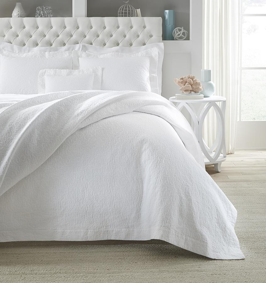 Adelli White Coverlets & Shams by Sferra