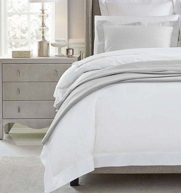 Bari Tin Blanket Covers & Shams by Sferra | Fig Linens - Light gray bed linens