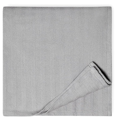 Bessini Dove Gray Cotton Blanket by Sferra |  Fig Linens - Gray lightweight cotton blanket