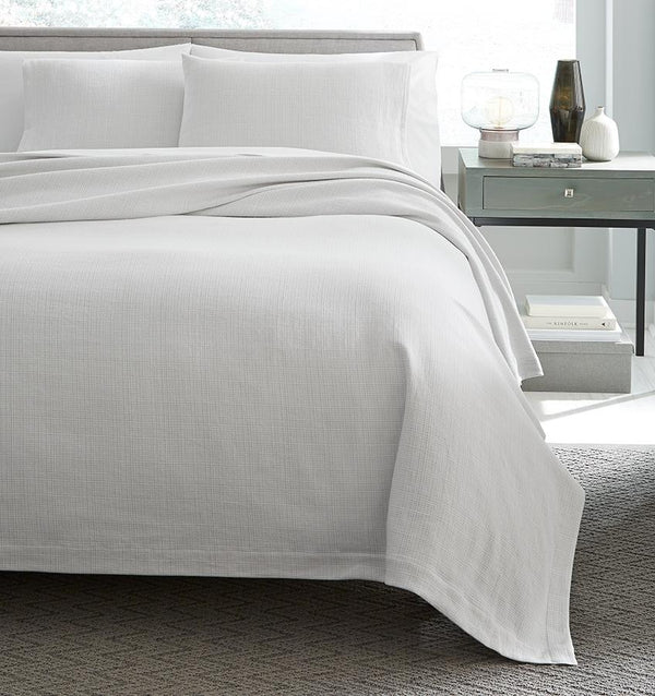 Bissa Blanket Covers & Shams by Sferra | Fig Linens - White, light gray