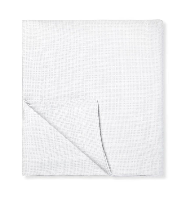 Bissa Blanket Covers & Shams by Sferra | Fig Linens - White, light gray blanket cover
