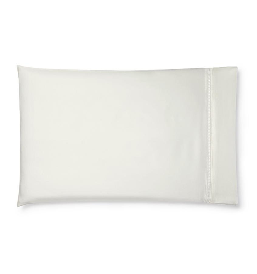 Diamante Bedding Collection by Sferra | Fig Linens - Ivory pillowcase