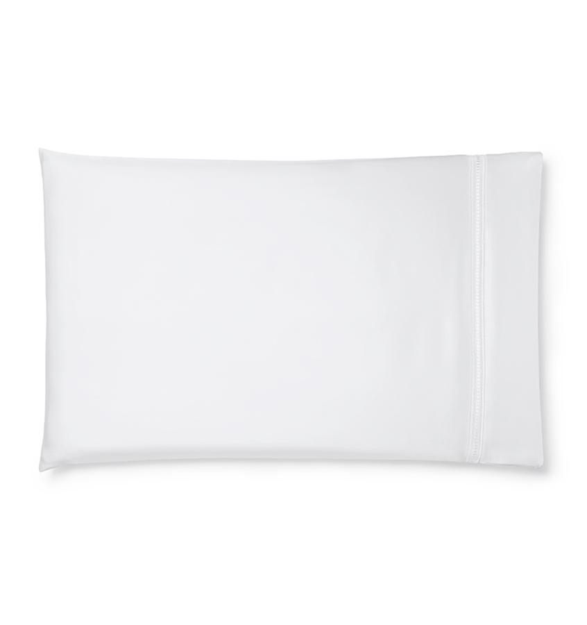 Diamante Bedding Collection by Sferra | Fig Linens - white pillowcase