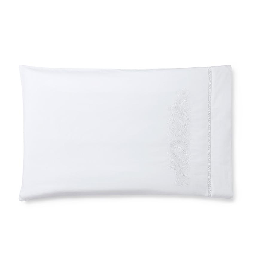 Francesca Bedding Collection by Sferra | Fig Linens - White pillowcase