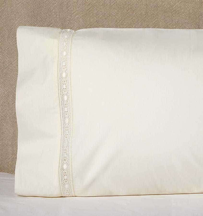 Giza 45 - Lace Bedding Collection by Sferra | Fig Linens - Ivory pillowcase