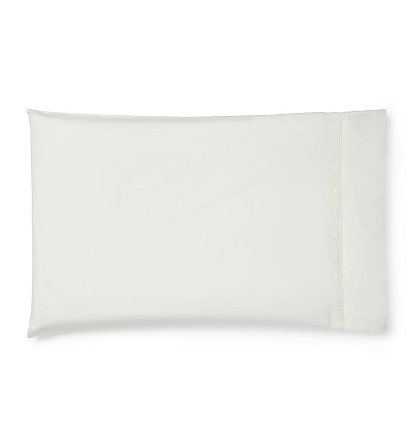 Giza 45 - Lace Bedding Collection by Sferra | Fig Linens - White pillowcase