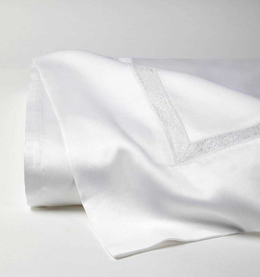 Fig Linens - Giza 45 - Trina Collection by Sferra - White flat sheet