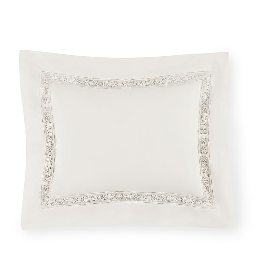 Giza 45 - Lace Bedding Collection by Sferra | Fig Linens- Ivory sham