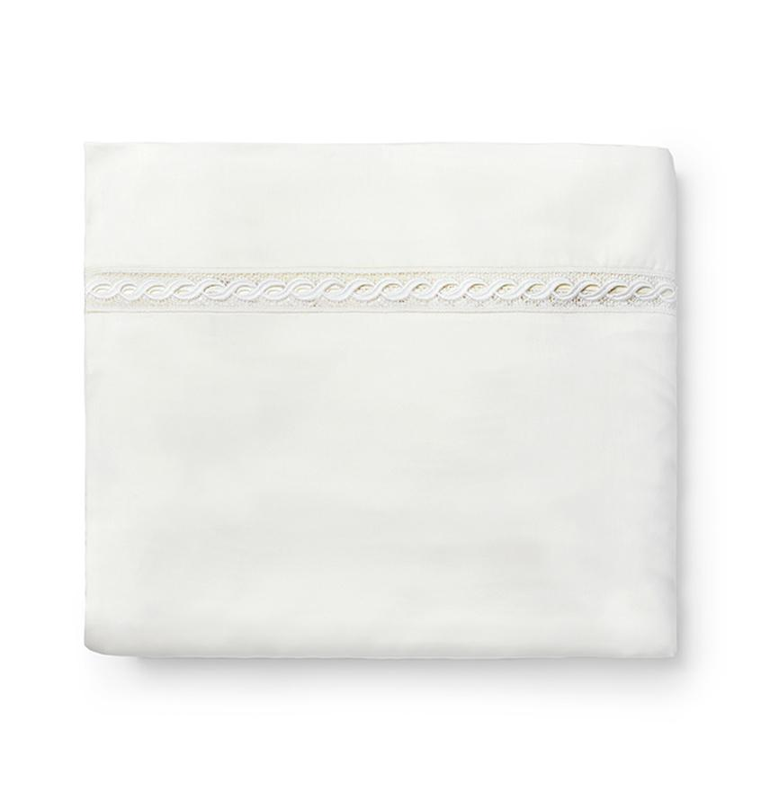 Fig Linens - Millesimo Bedding Collection by Sferra - Ivory duvet cover