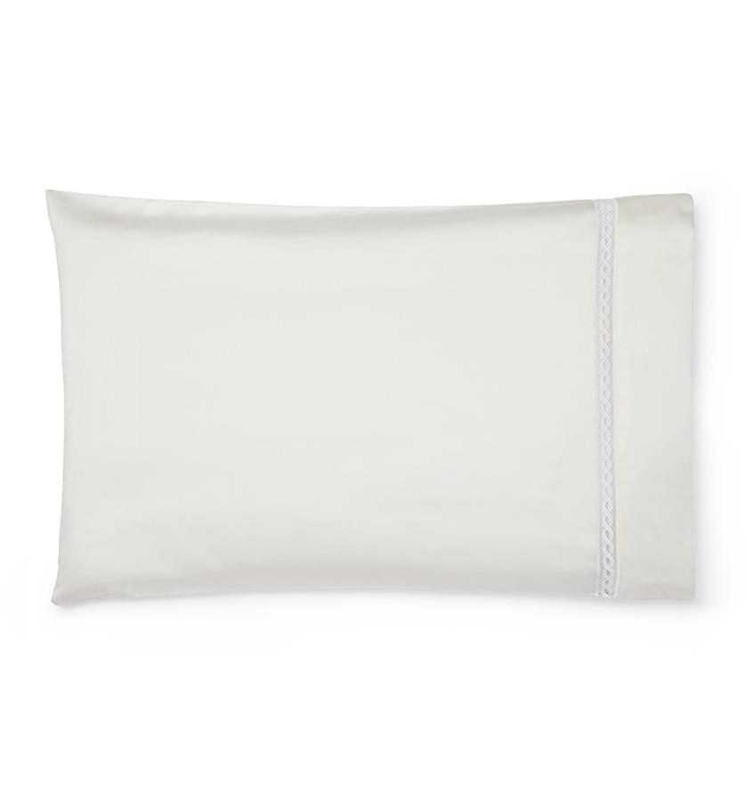 Fig Linens - Millesimo Bedding Collection by Sferra - Ivory pillowcase