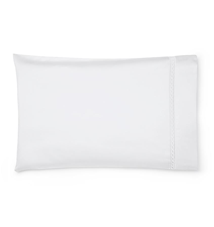 Fig Linens - Millesimo Bedding Collection by Sferra - White pillowcase