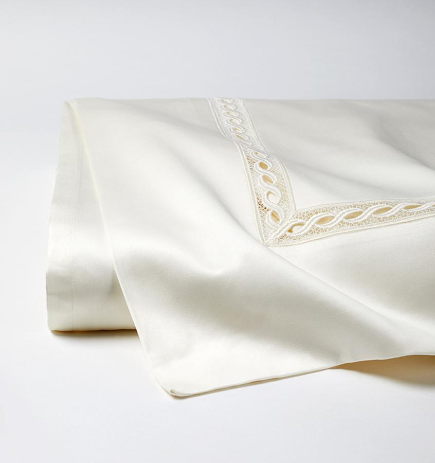 Fig Linens - Millesimo Bedding Collection by Sferra - Ivory flat sheet