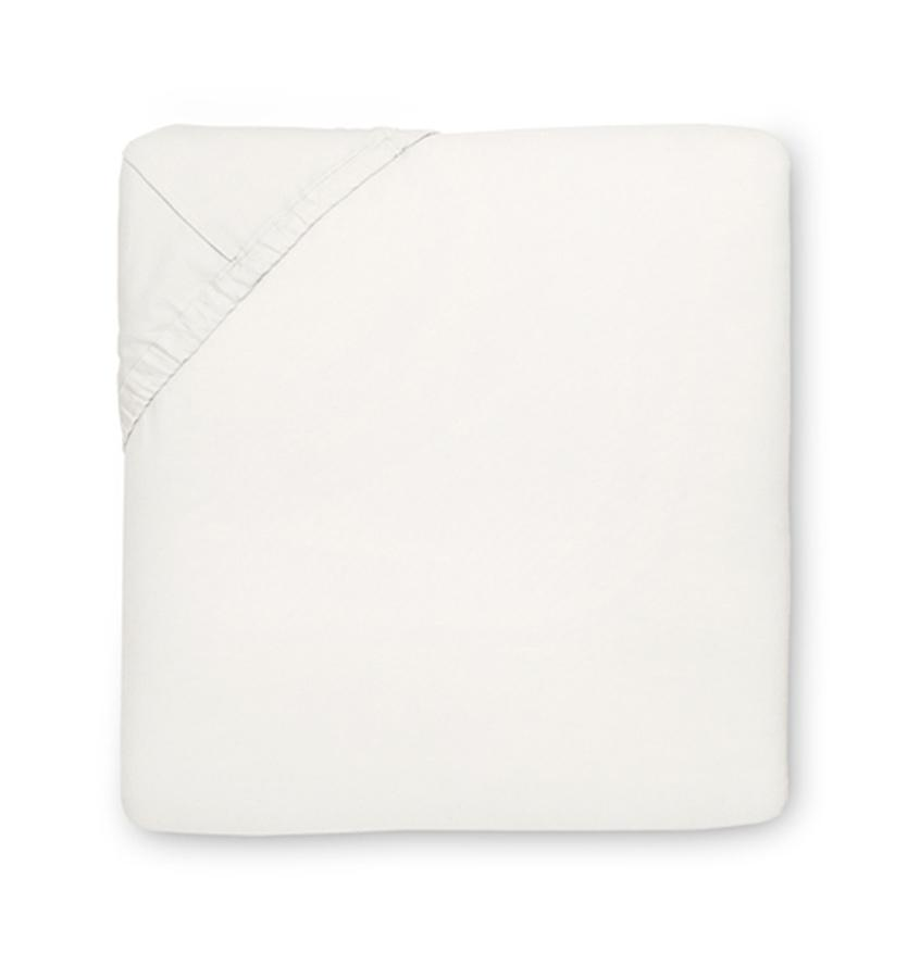 Fig Linens - Millesimo Bedding Collection by Sferra - Ivory fitted sheet