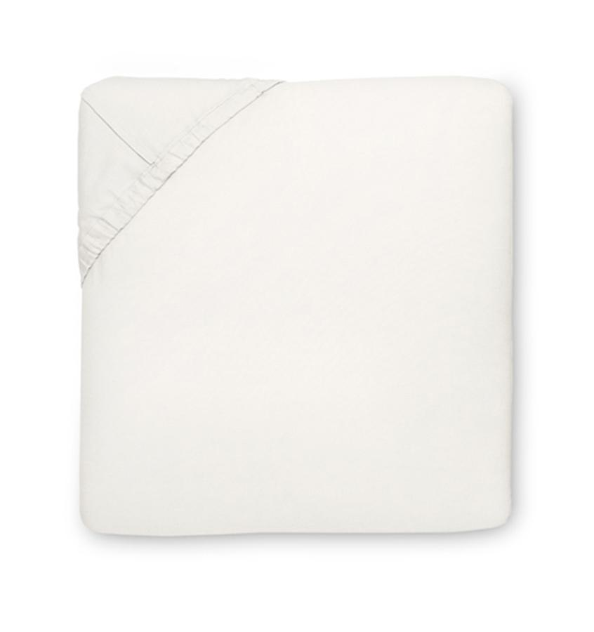 Fig Linens - Savio Bedding by Sferra - Ivory fitted sheet