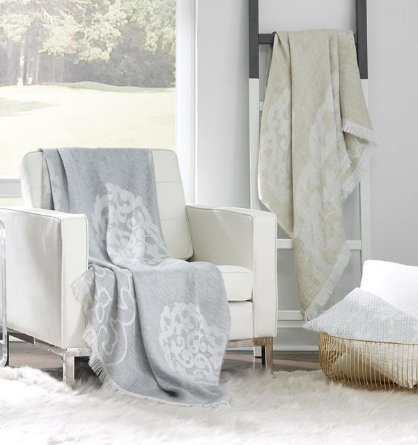 Lassia Natural Throw by Sferra | Fig Linens