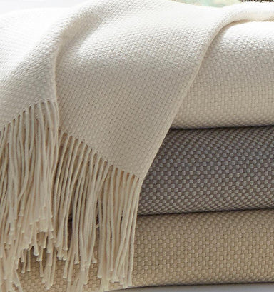 Bristol Throw by Sferra | Fig Linens Cotton blend throw
