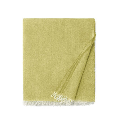 Ciarra Lemon Cashmere Throw by Sferra | Fig Linens - Yellow accent throw