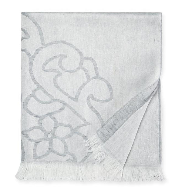 Lassia Gray Throw by Sferra | Fig Linens - Lightweight accent throw