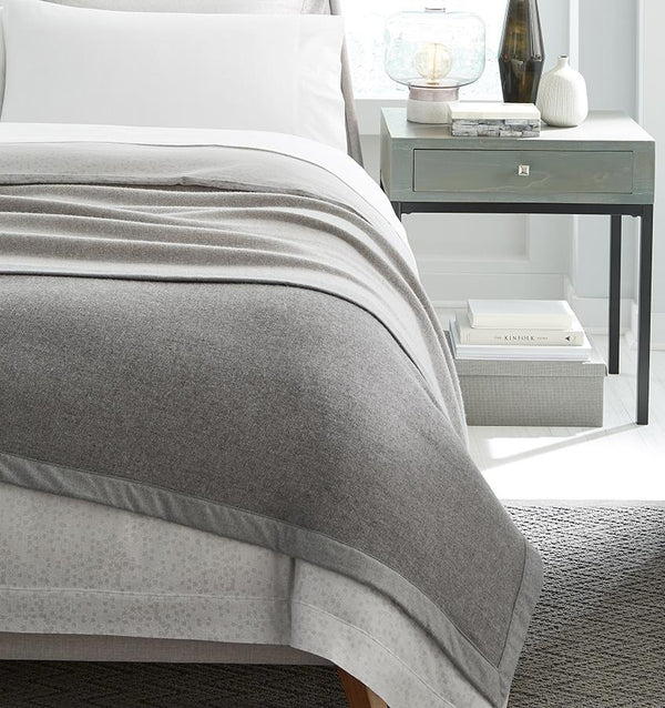 Nerino Gray Wool Blanket by Sferra | Fig Linens and Home