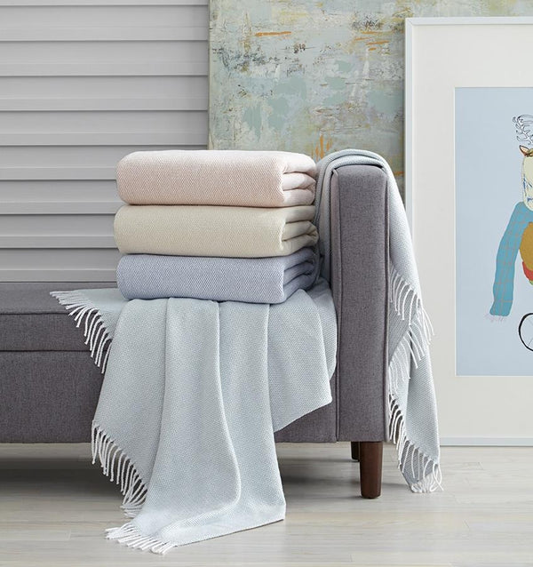 Terzo Seagreen Throw by Sferra | Fig Linens and Home