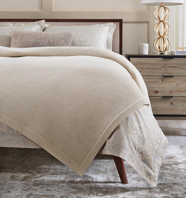 Talida Ivory Wool Blanket by Sferra | Fig Linens and Home