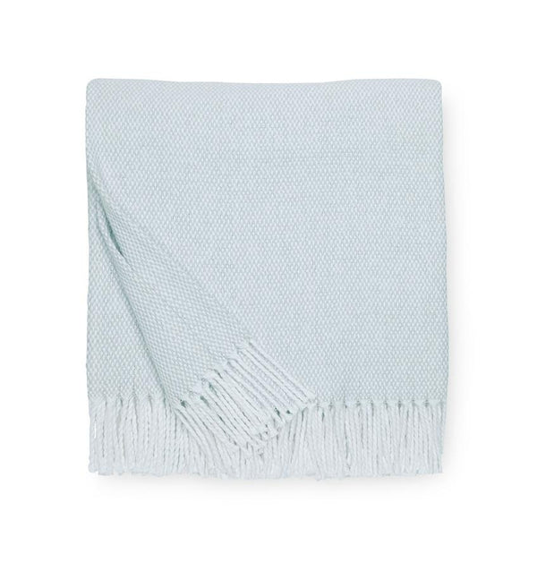 Terzo Seagreen Throw by Sferra | Fig Linens and Home - light green throw blanket