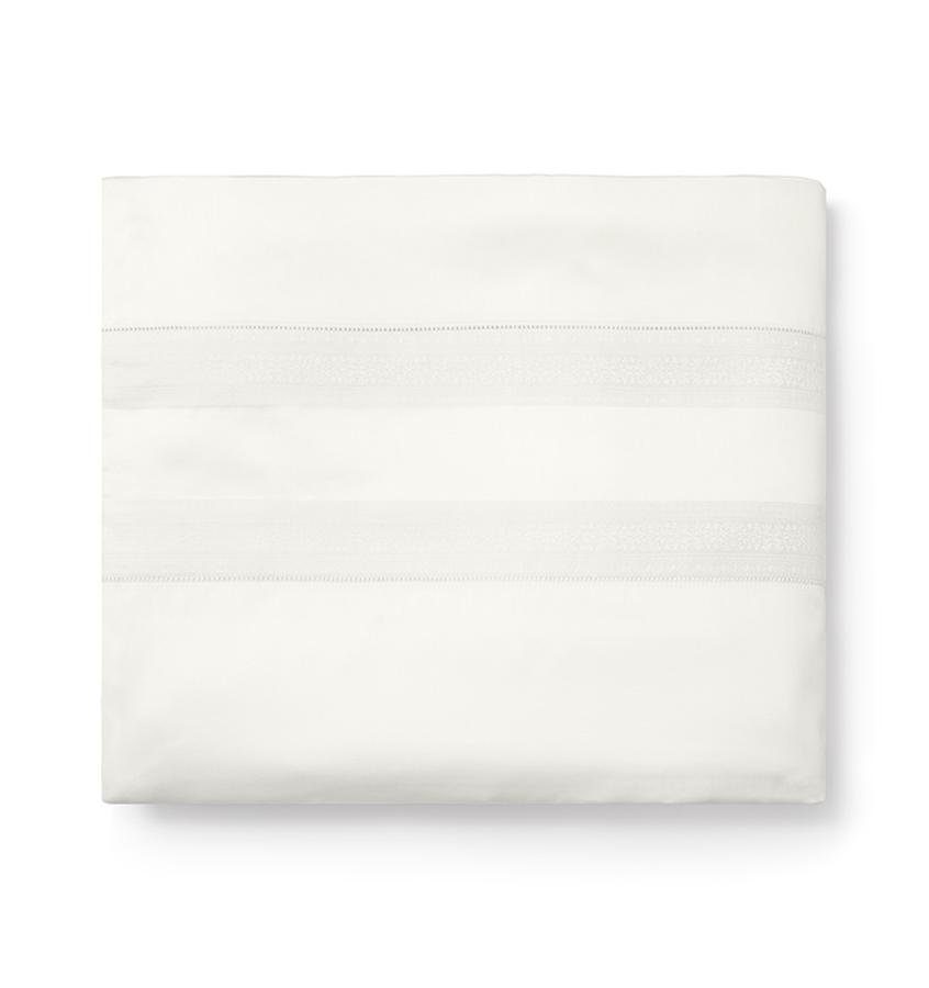 Capri Bedding Collection by Sferra | Fig Linens - Ivory duvet cover