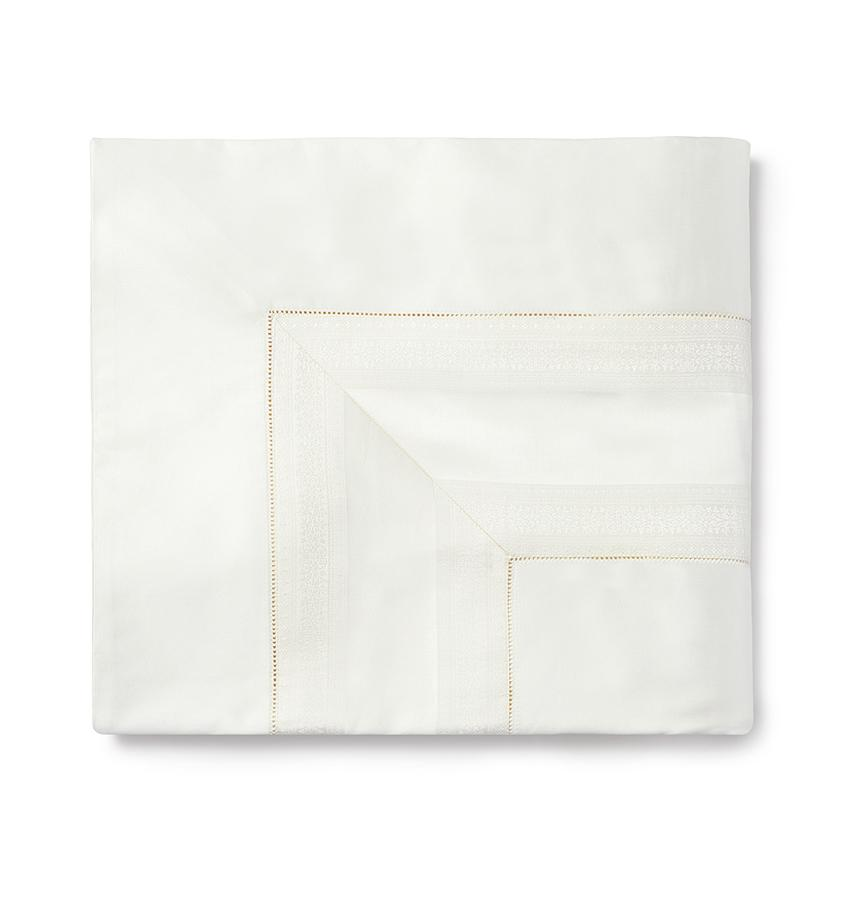 Capri Bedding Collection by Sferra | Fig Linens - Ivory flat sheet