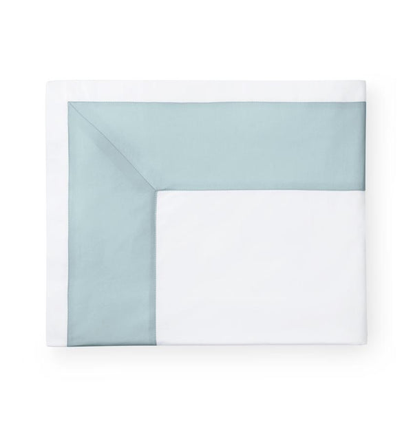 Casida Poolside Bedding Collection by Sferra | Fig Linens - Poolside blue flat sheet