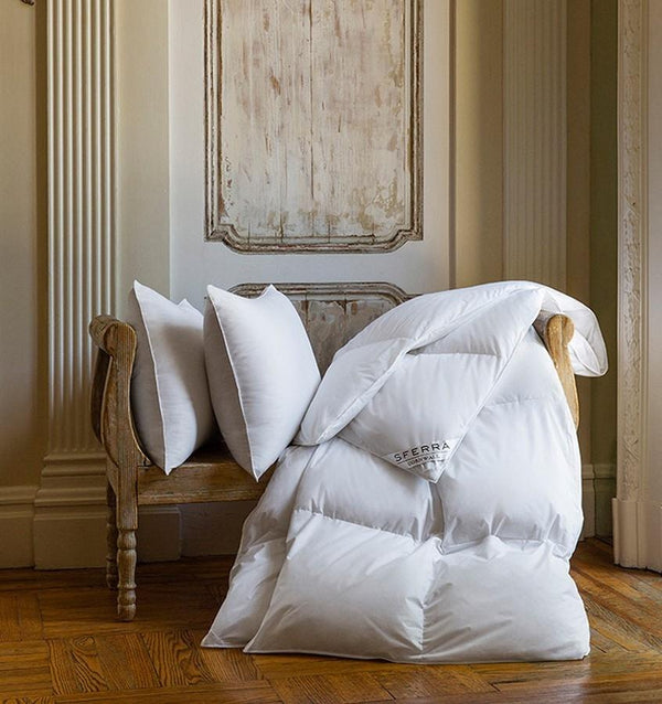 Cornwall Goose Down Comforter by Sferra | Fig Linens and Home