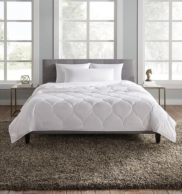 Arcadia White Duvet Blanket by Sferra | Fig Linens and Home