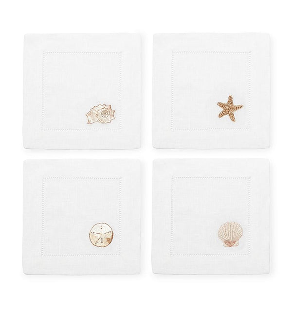 Beach themed linen napkins - Beachcomber by Sferra - Fig Linens