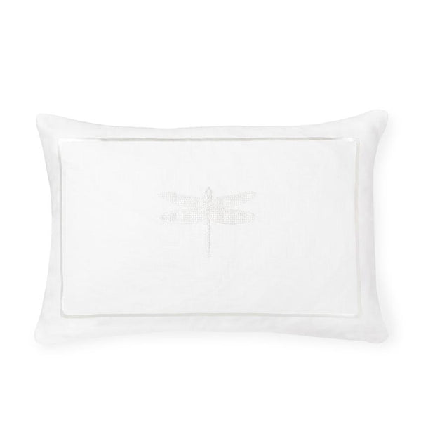 Alato White Decorative Throw Pillow by Sferra | Fig Linens and Home - White throw pillow