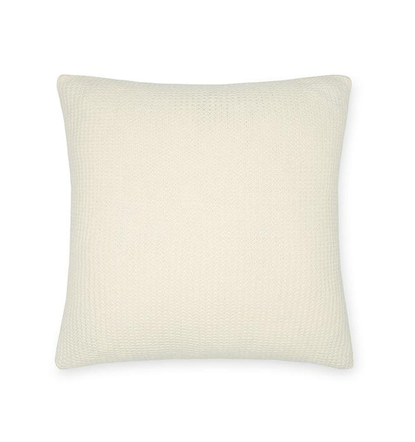 Pettra Eggshell Throw Pillow by Sferra | Fig Linens and Home - Ivory pillow