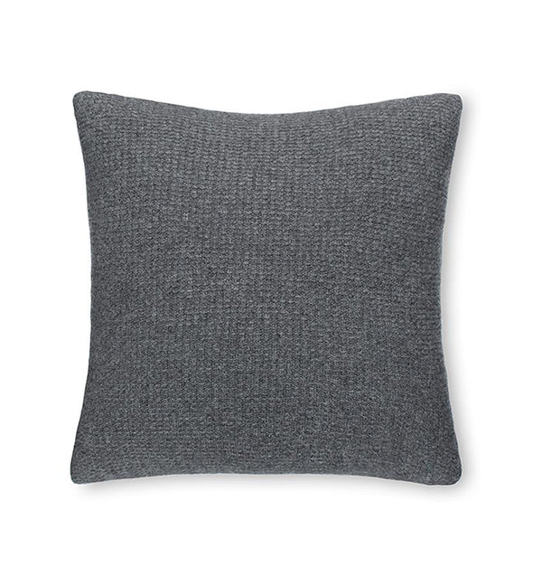 Pettra Gray Throw Pillow by Sferra | Fig Linens and Home - Gray throw pillow