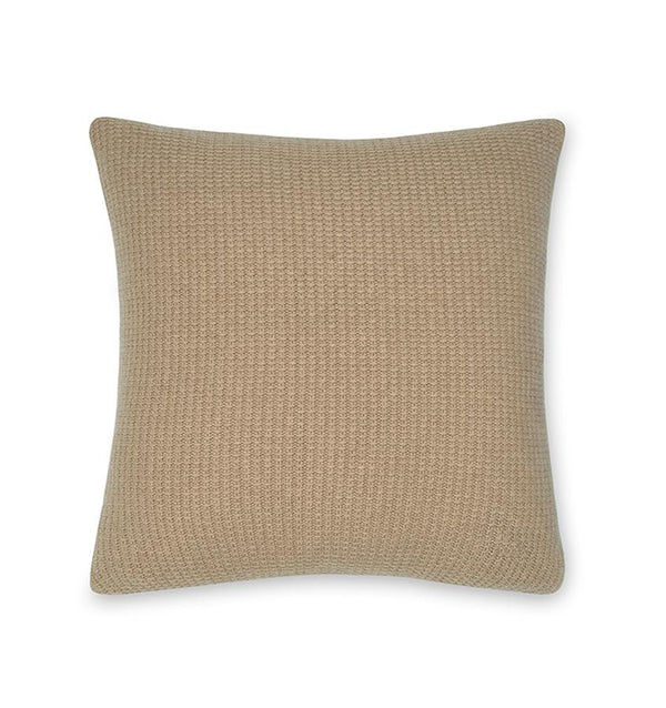 Pettra Pebble Throw Pillow by Sferra | Fig Linens and Home - Taupe decorative accent pillow