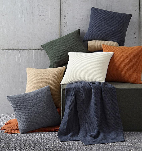 Pettra Gray Throw Pillow by Sferra | Fig Linens and Home