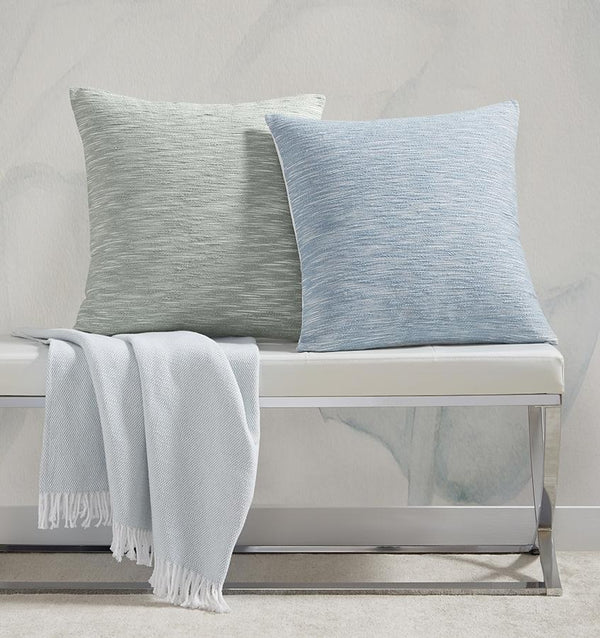 Samma Aquamarine Throw Pillow by Sferra | Fig Linens  - Decorative Throw Pillows