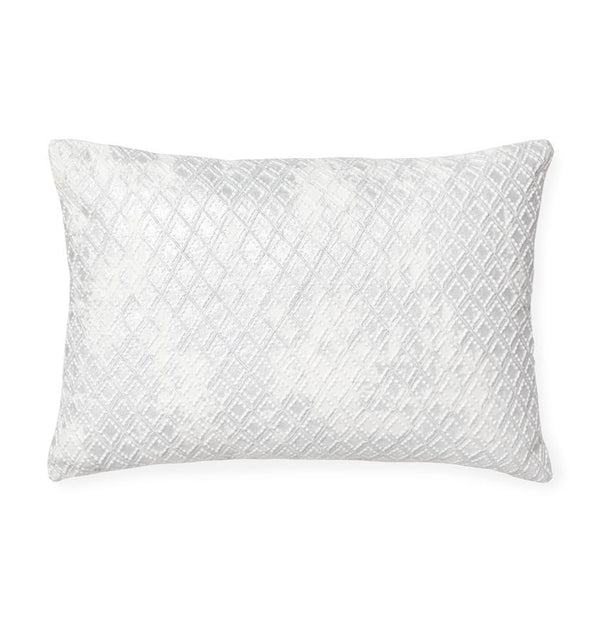Fig Linens - Jossa Silver Decorative Pillow with diamond embroidery