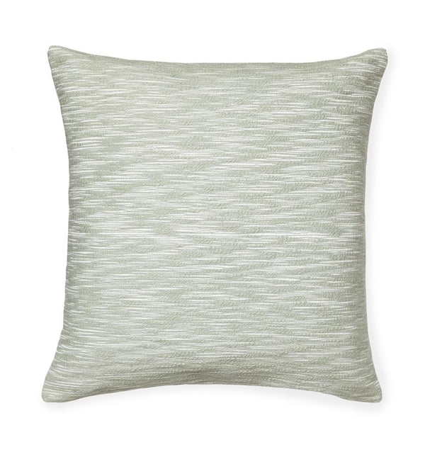 Samma Seagreen Throw Pillow by Sferra | Fig Linens - Green decorative pillow