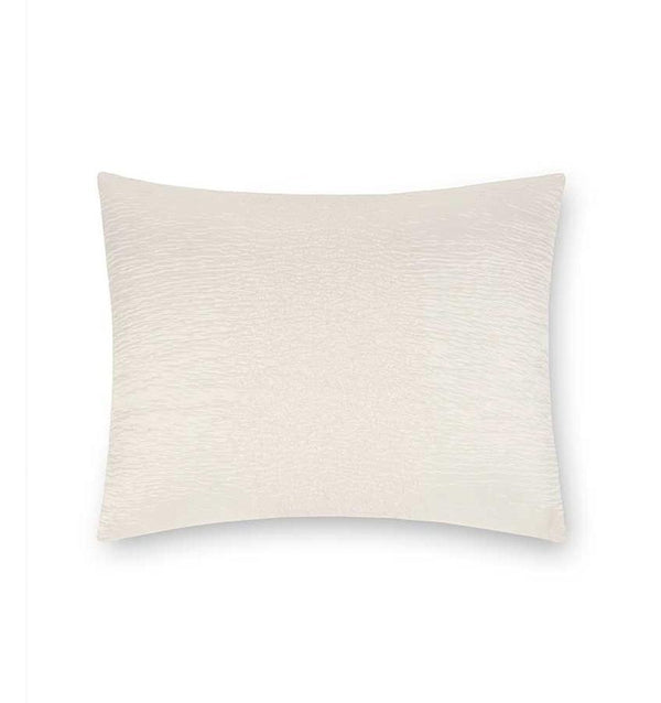 Sessa Ombre Throw Pillow by Sferra | Fig Linens and Home - Ivory silk blend decorative pillow