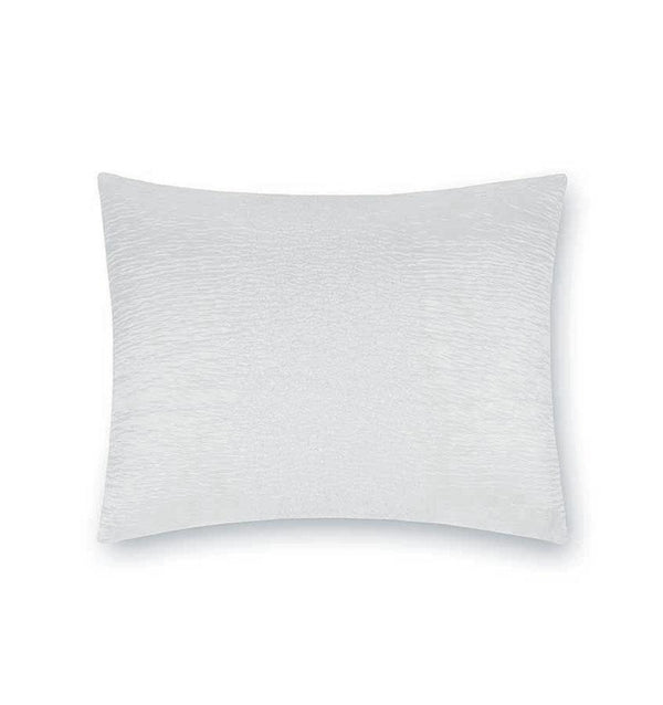 White silk blend decorative throw pillow by Sferra - Fig Linens