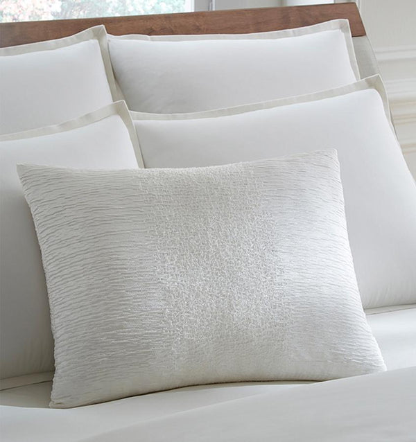 Sessa Snow Throw Pillow by Sferra | Fig Linens - decorative throw pillow