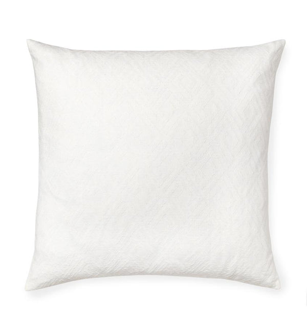 Oversized white decorative throw pillow - Sferra - Fig Linens