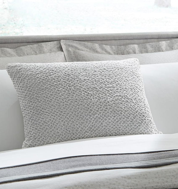 Zea Silver Decorative Throw Pillow by Sferra | Fig Linens