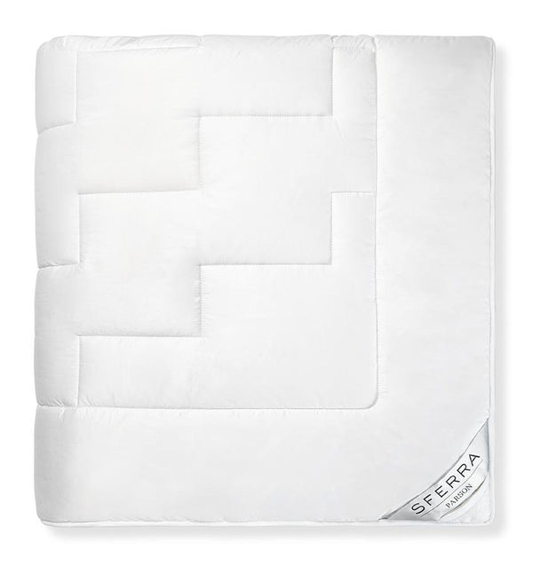 White all natural down alternative quilt - Parson by Sferra - Fig Linens