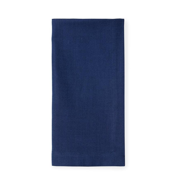Navy blue cotton napkin - Cartlin Navy by Sferra - Fig Linens