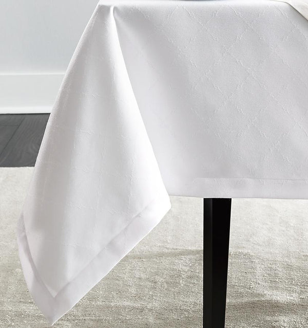 White easy care tablecloths - Juliet by Sferra - Fig Linens