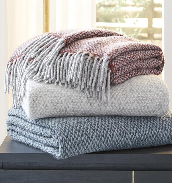 Sferra Tria Gray Throw by Sferra | Fig Linens and Home